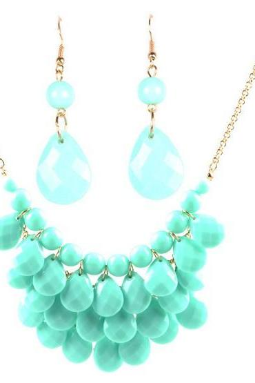 New Fashion Vintage Womens Ladies Chunky Collar Bib Bubble Statement Necklace