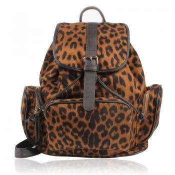 Backpack With Leopard Prints